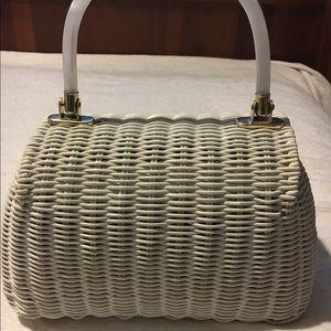 Vintage Bags - Vintage Wicker basket Bag